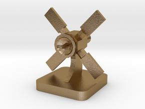 Mini Space Program, Orbiter Probe 2 in Polished Gold Steel
