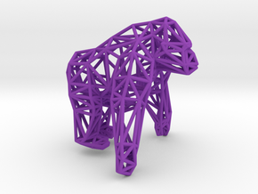 Mountain Gorilla in Purple Processed Versatile Plastic