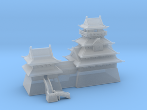 Japanese castle in high detail in Smooth Fine Detail Plastic