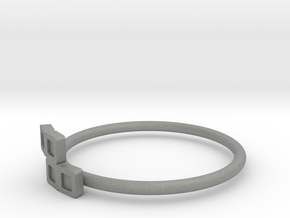 Block Puzzle Ring (Type-S2) in Gray Professional Plastic