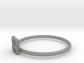 Block Puzzle Ring (Type-O) in Gray Professional Plastic