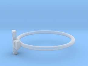 Block Puzzle Ring (Type-T2) in Smooth Fine Detail Plastic