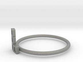 Block Puzzle Ring (Type-L3) in Gray Professional Plastic