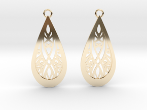 Elven earrings in 14k Gold Plated Brass: Small