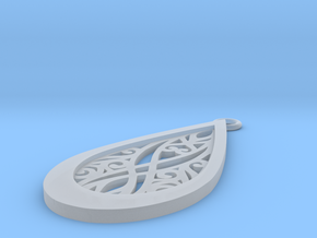 Elven pendant in Smooth Fine Detail Plastic: Small