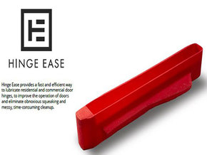Hinge Ease - External hinge cover for lubrication in Red Processed Versatile Plastic