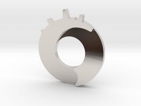 Exploding Dot Pendant in Platinum