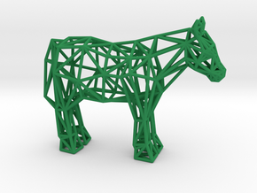Shetland Pony in Green Processed Versatile Plastic