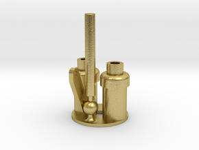 WD Hunslet Safety Valve Whistle Assembly (Meshed) in Natural Brass