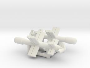 (1:285)(x2) Ke-Go in White Natural Versatile Plastic