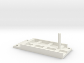 Model Railway Terminal Block Mount (18mm) in White Natural Versatile Plastic