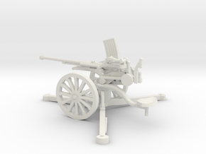 1/48 IJA Type 98 20mm anti-aircraft gun in White Natural Versatile Plastic
