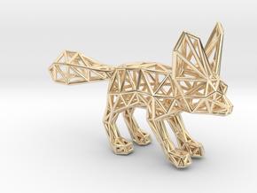 Fennec Fox (adult) in 14K Yellow Gold