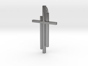 Calvary Cross Pendant - Christian Jewelry in Natural Silver