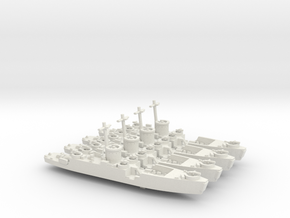 4 Off LCI(L) Bow Ramp 1/700 Scale in White Natural Versatile Plastic