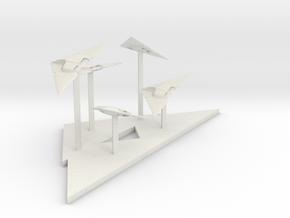 Raider Fighter Fleet (2.5 x / 6 y / 2.14 z) in White Natural Versatile Plastic