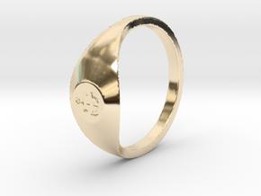 Nautical: Custom Size 10 in 14k Gold Plated Brass: Medium