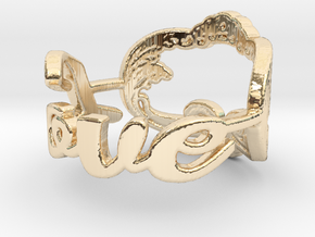 Love Ring in 14K Yellow Gold: 1.5 / 40.5