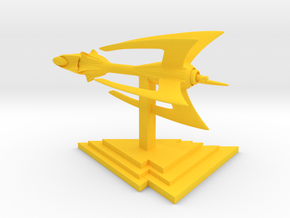 Drakh - Fighter (2.3 x / 1.9 y / 1.7 z) in Yellow Processed Versatile Plastic