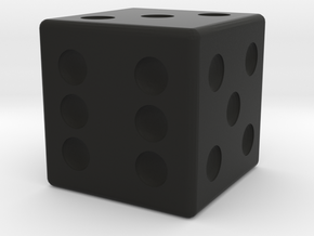Dice in Black Natural Versatile Plastic