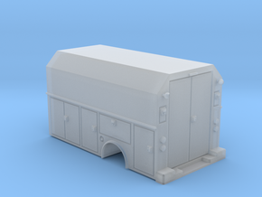 MOW Service Box Bed Hollow 1-87 HO Scale in Smooth Fine Detail Plastic