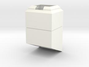Commlock Desk Holder in White Processed Versatile Plastic