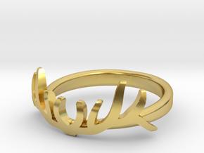 Elk Antler Ring 1 in Polished Brass: 7 / 54