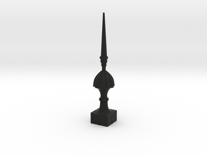 Signal Finial (Victorian Spike) 1:24 scale in Black Natural Versatile Plastic