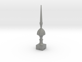 Signal Finial (Victorian Spike) 1:24 scale in Gray PA12