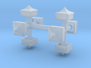 Signal Finial (Square Cap) 1:87 scale in Smooth Fine Detail Plastic