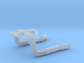 1:25 Custom Hot Rod Headers in Smoothest Fine Detail Plastic