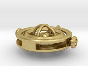 Gyroscopic Pendant in Natural Brass (Interlocking Parts)