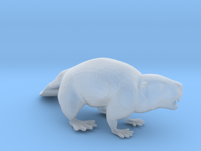 Beaver Standing in Smoothest Fine Detail Plastic: 1:64 - S
