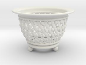 Neo Pot Spiral  2.5in.  in White Natural Versatile Plastic