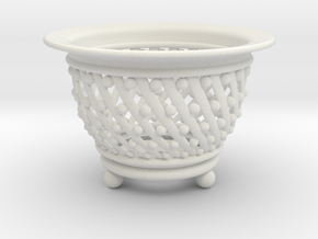Neo Pot Spiral 4in.  in White Natural Versatile Plastic