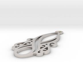 Lorelei pendant in Platinum: Small