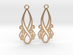 Lorelei earrings in Natural Bronze: Small