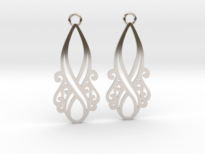 Lorelei earrings in Rhodium Plated Brass: Small
