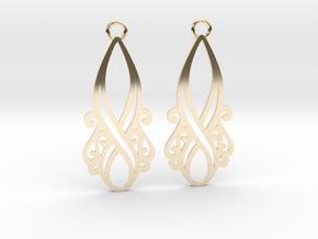 Lorelei earrings in 14k Gold Plated Brass: Small