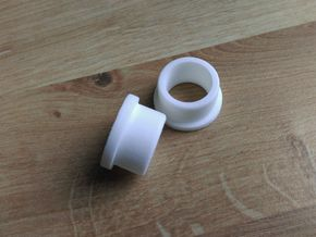 Lancia Delta 1 Rear brake bush in White Natural Versatile Plastic