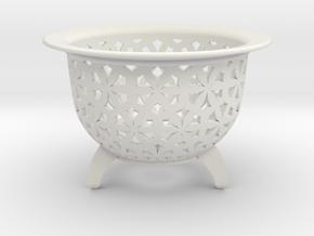 Neo Pot Stars 3.5 in in White Natural Versatile Plastic