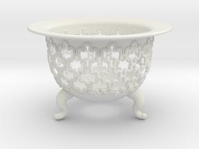 Neo Pot Rippling 2.5in.  in White Natural Versatile Plastic