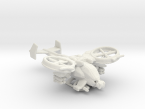 Scorpion Gunship V1 285 scale in White Natural Versatile Plastic