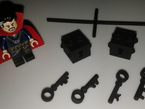 Key & Lock sets in Black Natural Versatile Plastic