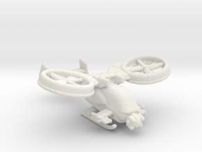 gunship v1 285 scale in White Natural Versatile Plastic