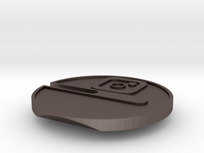 Buttcoin Cigar Stand with IG Logo (one half) in Polished Bronzed-Silver Steel