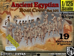 1/125 Ancient Egyptian Boat Crew Set101 in Smooth Fine Detail Plastic