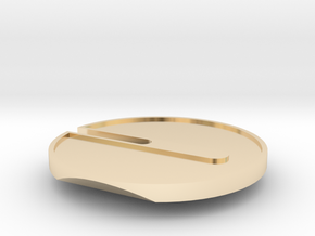 Buttcoin Cigar Stand (one half) in 14k Gold Plated Brass