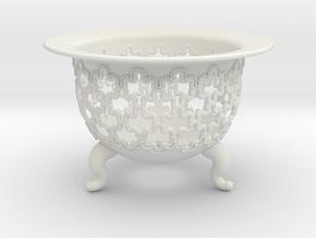 Neo Pot Rippling 4in.  in White Natural Versatile Plastic