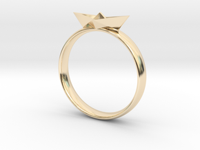 Paper Boat Ring in 14k Gold Plated Brass: 3 / 44